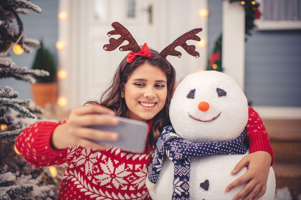 Snowman selfie.