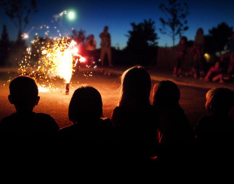 Fireworks in the backyard