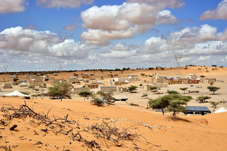 Typical Saharan village, Mauritania
