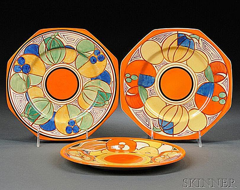 Clarice Cliff Bizarre Ware Plates