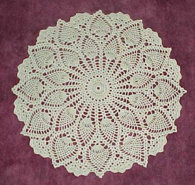 Pineapple Doily Free Crochet Pattern
