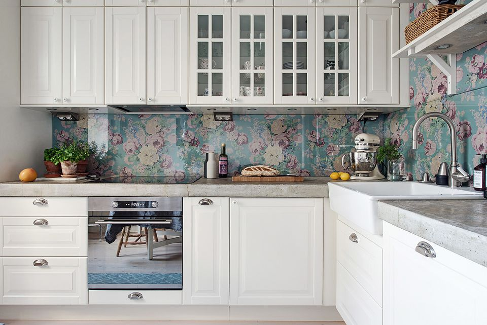 Removable Fabric Backsplash
