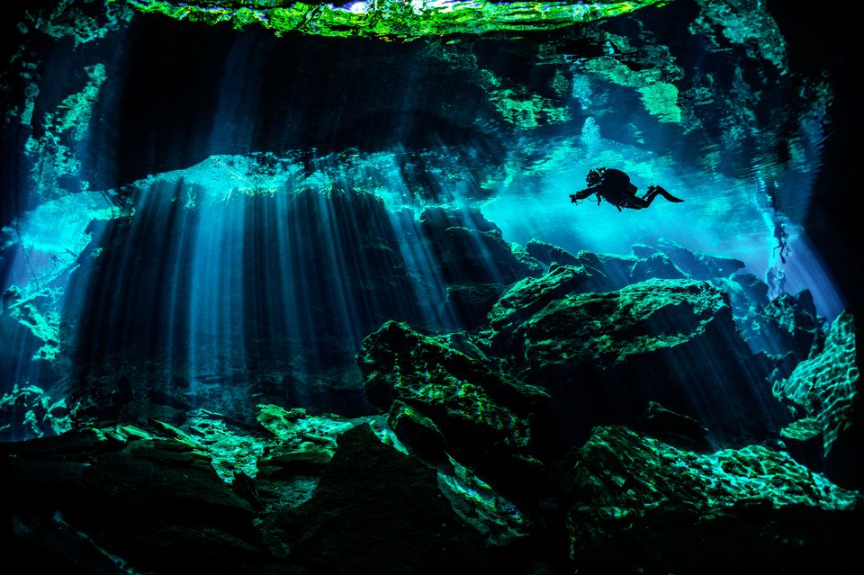 Scuba diving in the Yucatan Peninsula