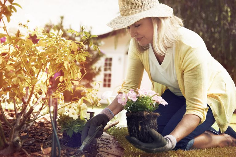 woman gardening as a form of exercise