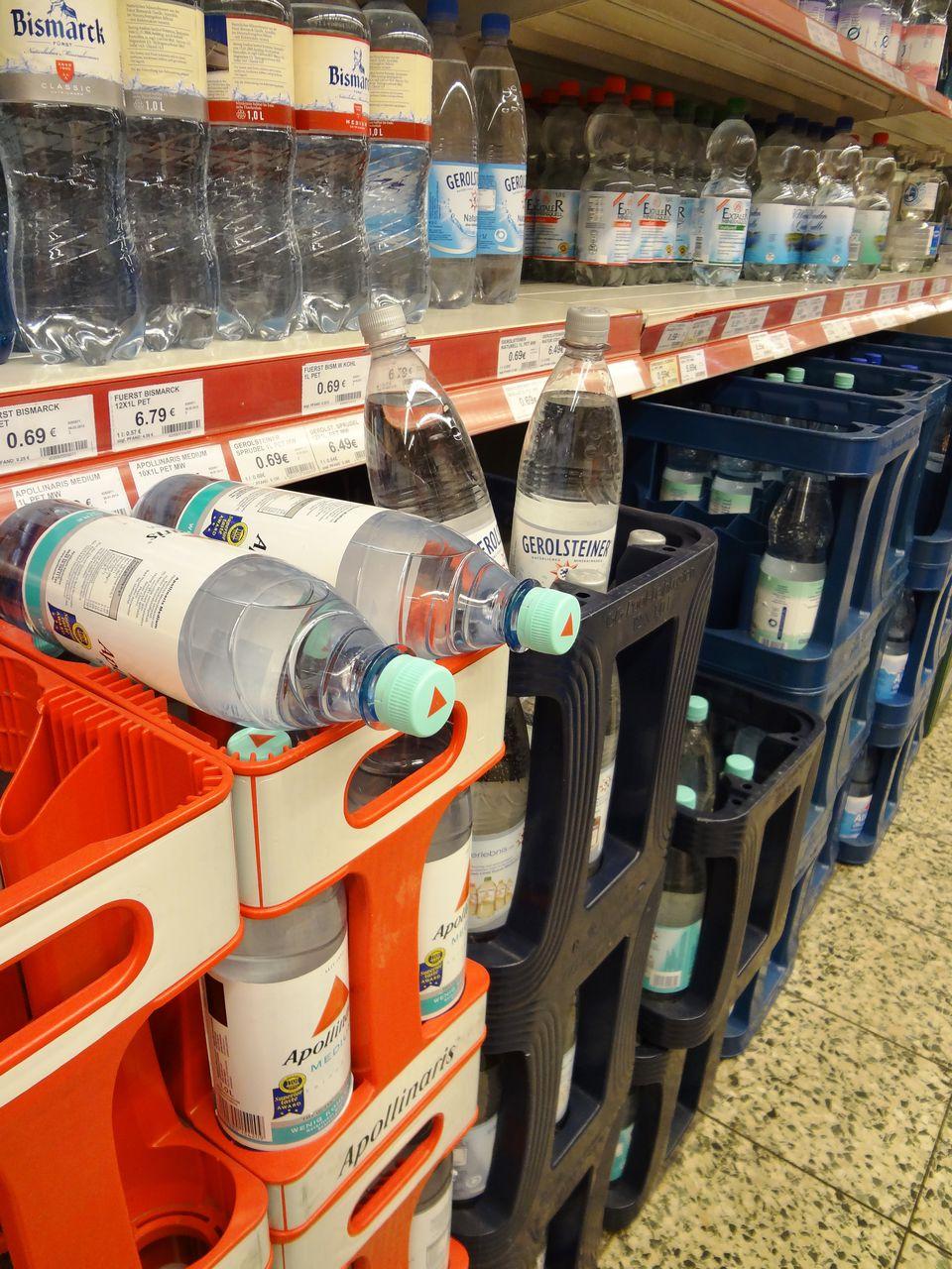 Bottled water in Germany.JPG