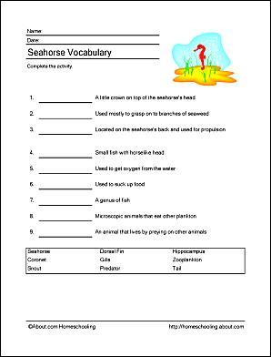 Seahorse Printables 7