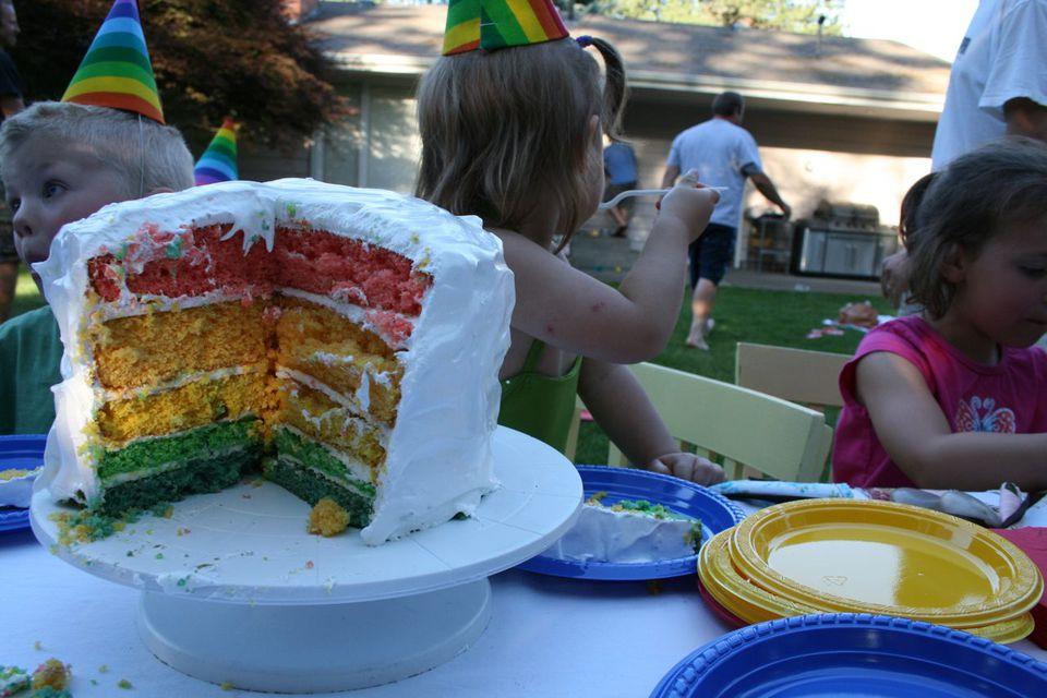 Rainbow cake, rainbow party, kids party ideas, birthday themes, rainbows, rainbow theme, birthdays