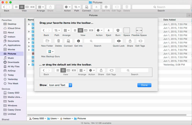 Customize the Finder Toolbar