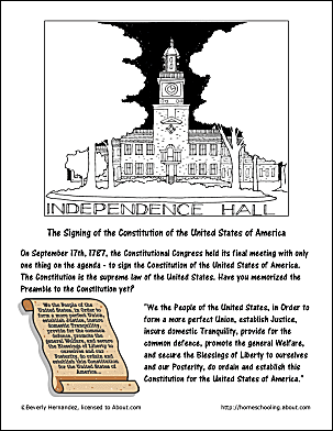 Chocolate milkshake recipe and coloring pages for Constitution day coloring pages