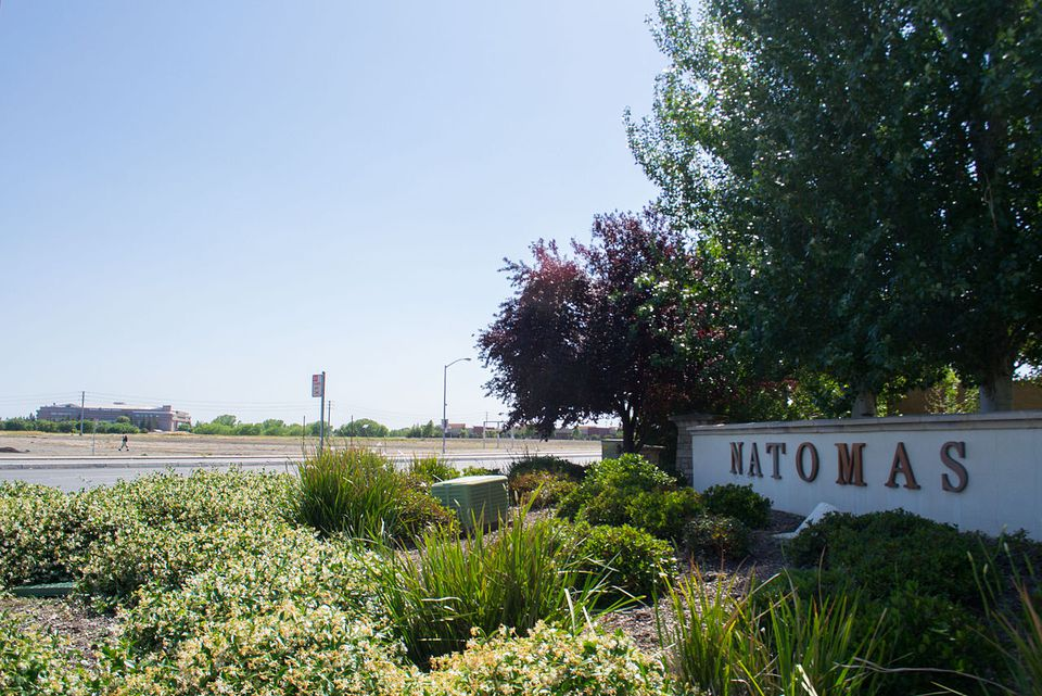 The community of Natomas in Sacramento, California. Sleep Train Arena is on the left.