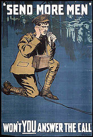 Send More Men WWI Poster