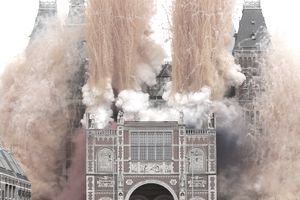 fireworks and smoke bombs for the Rijksmuseum Official Opening on April 13, 2013 in Amsterdam, Netherlands.