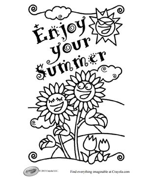 crayolas free summer coloring pages - Free Summer Coloring Pages