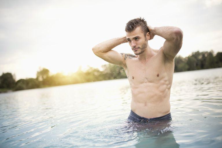 A Man in a Lake