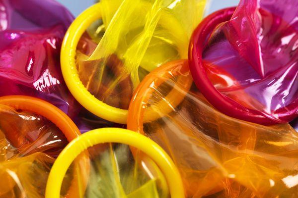 Coloured condoms