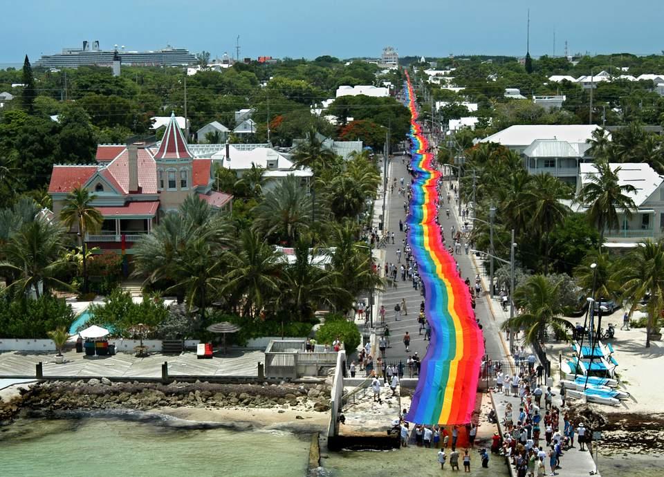 World's Longest Rainbow Flag Unfurled In Key West