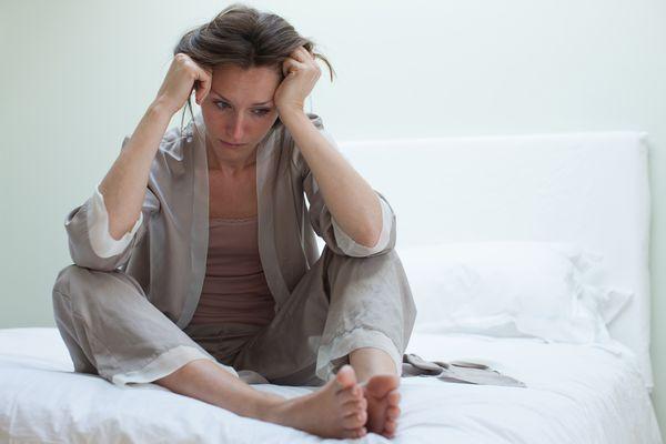 Woman looking sad with low self-esteem.