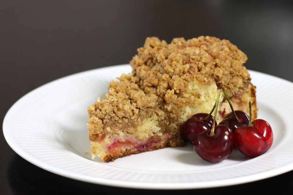 Fresh Cherry Crumb Cake