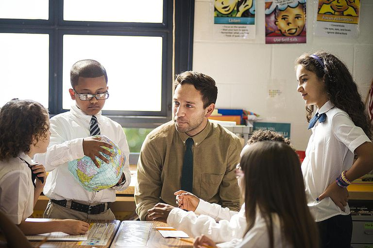 Teacher with Group of Students