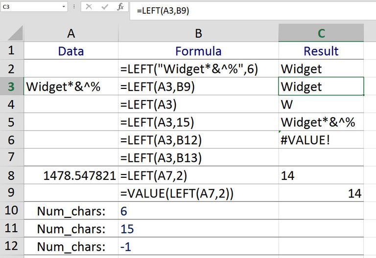 Extract Good Text From Bad with the LEFT/LEFTB function