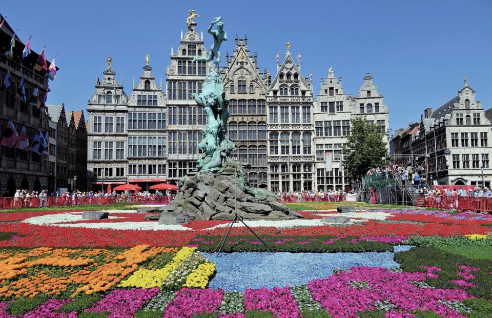 Grand Place in Antwerp, Belgium
