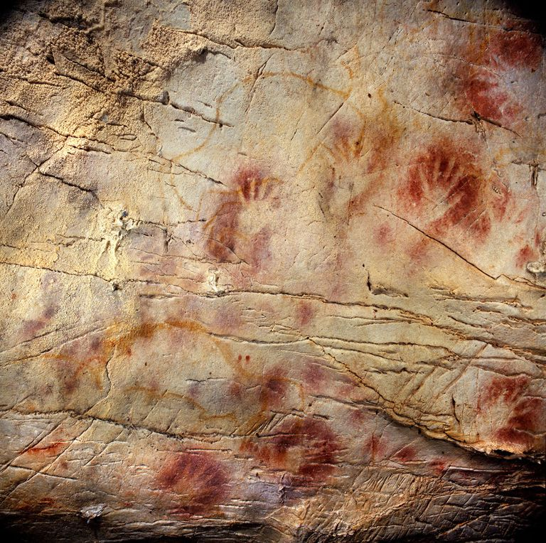 Panel of Hands at Castillo Cave