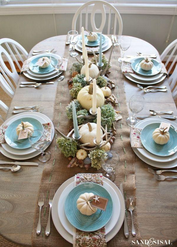 thanksgiving table ideas. Coastal Thanksgiving Table Ideas