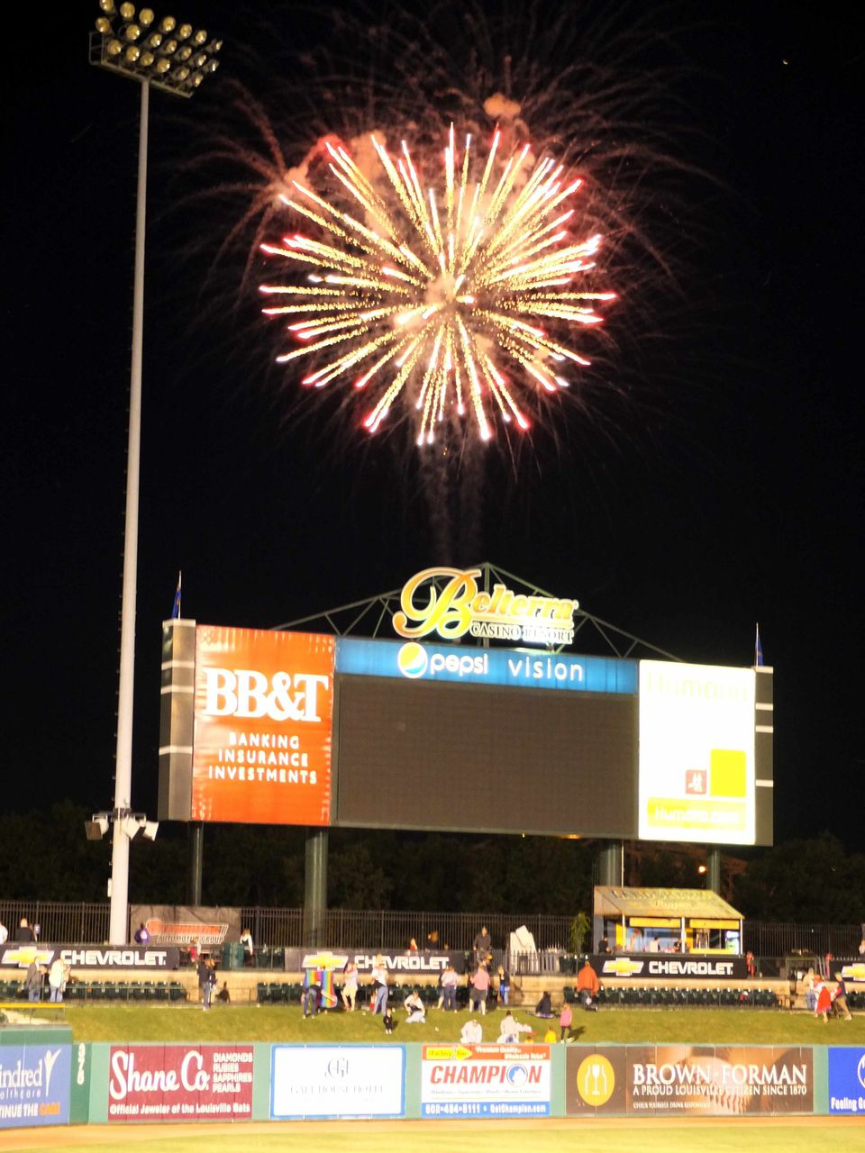Fireworks at Slugger Field