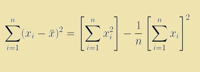 The sum of squares formula shortcut allow us to find the sum of squared deviations, without first calculating the mean.