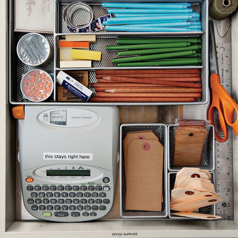 Organized kitchen drawer from Martha Stewart Living