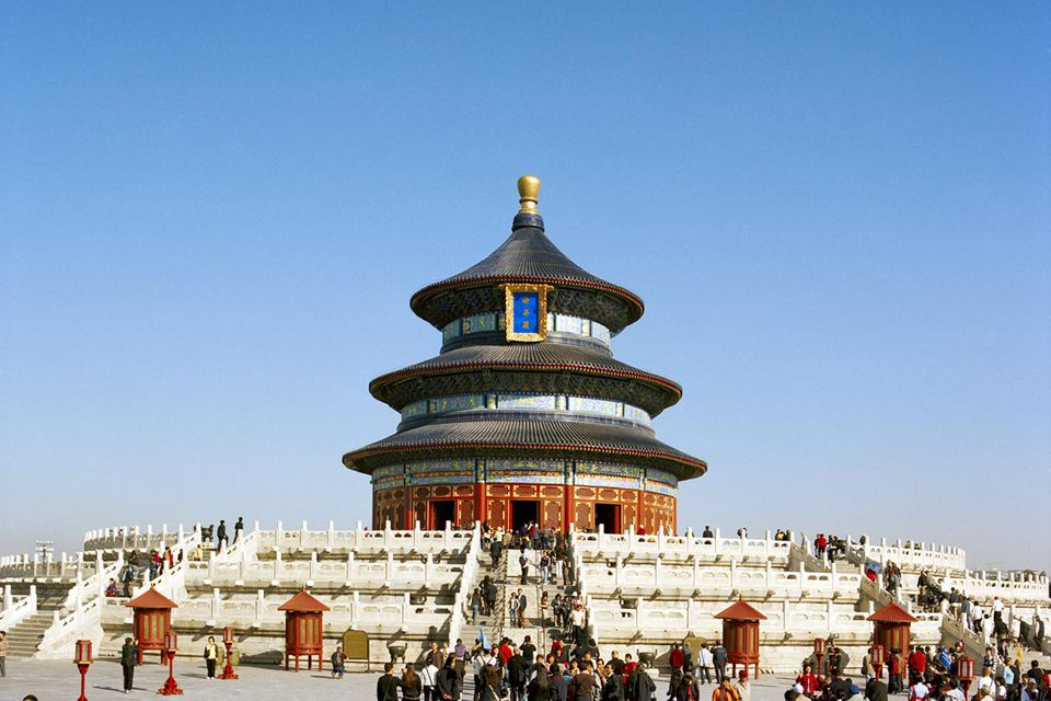 Visitors Outside the Temple of Heaven