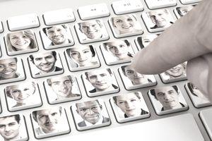 people on keyboard