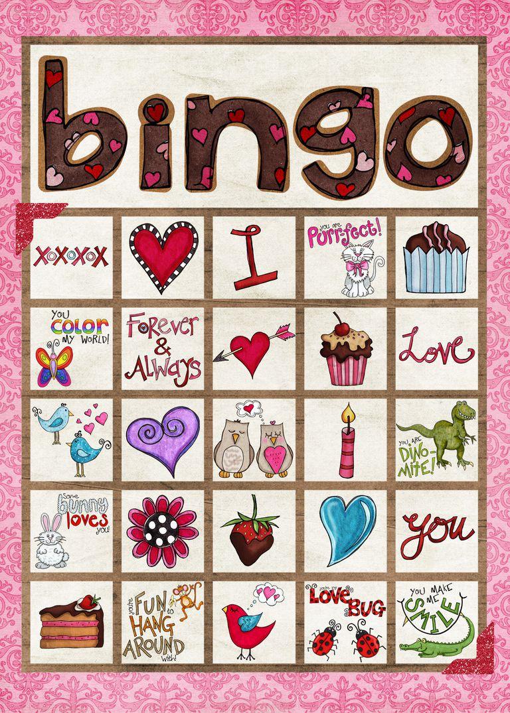 valentine bingo game from simply fresh designs - Valentine Bingo Cards