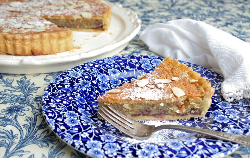 Bakewell Tart on a Plate