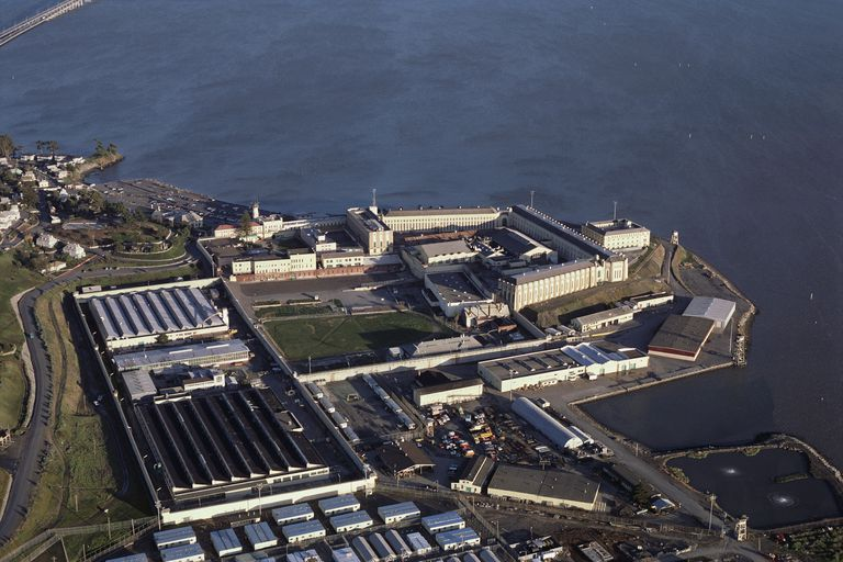 San Quentin State Prison on San Francisco Bay