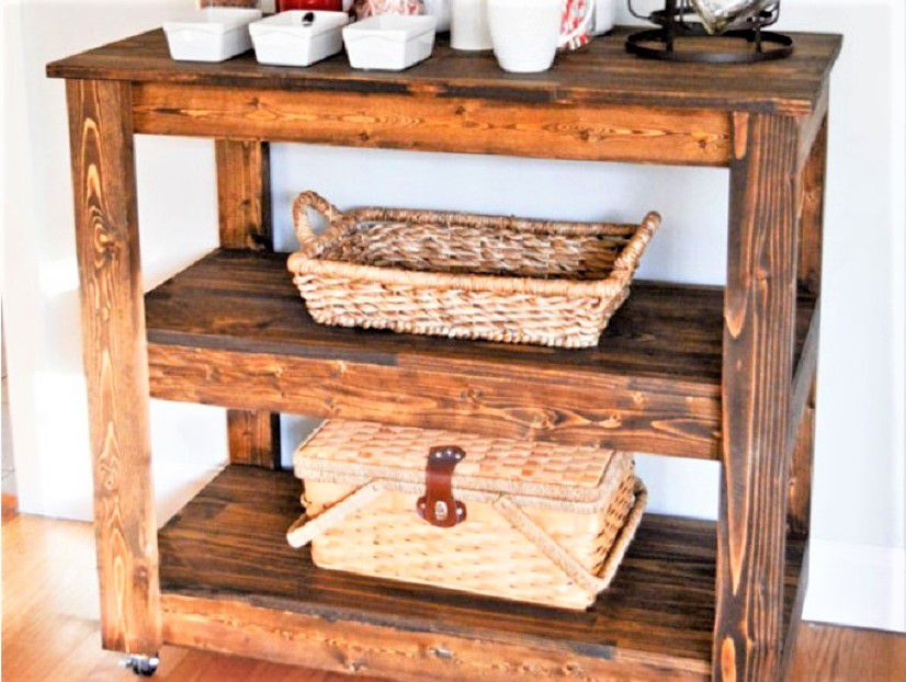 diy wood bar. All Wood Bar Cart 10 DIY Carts