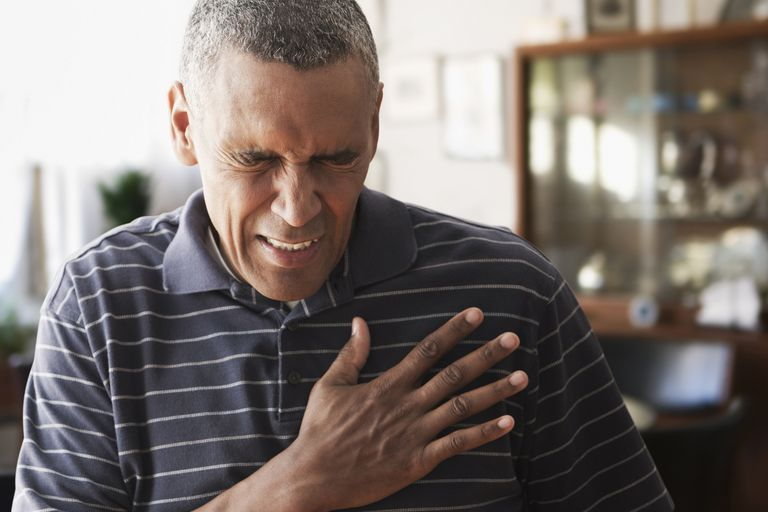 An African-American suffering from chest pain.