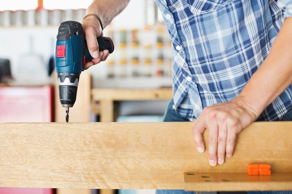 Power drill woodworking