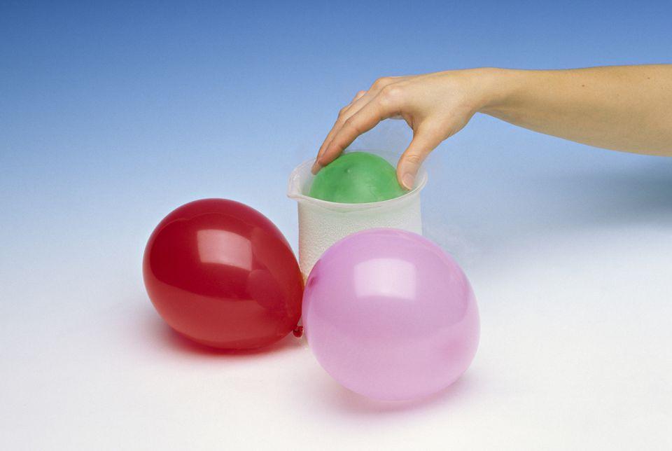 A balloon in a jar