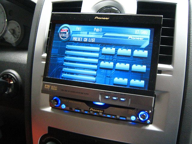 In-dash Pioneer DVD player