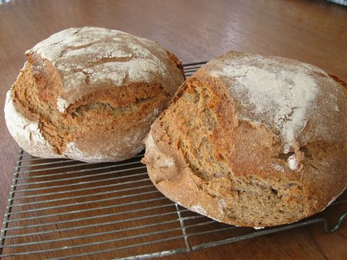 German Graubrot or Mischbrot - Rye and Wheat Bread
