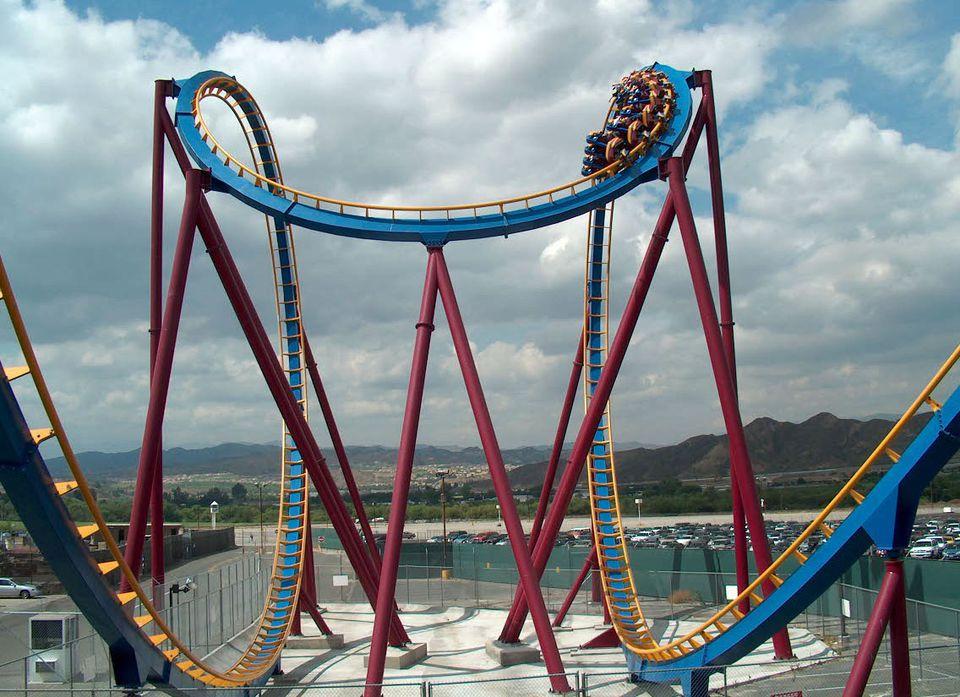 Scream coaster at Six Flags Magic Mountain.