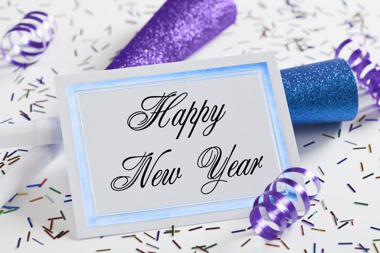 Studio shot of New Year greeting card