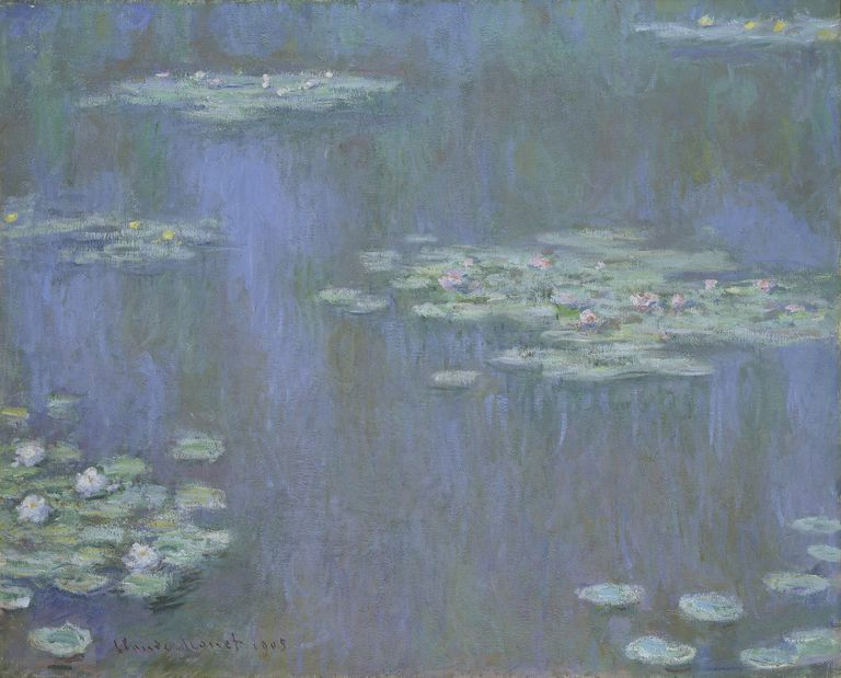 A Painting By Claude Monet In Analogous Colors