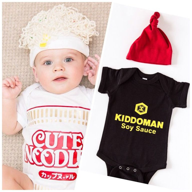 ramen and soy sauce baby halloween costumes etsycom
