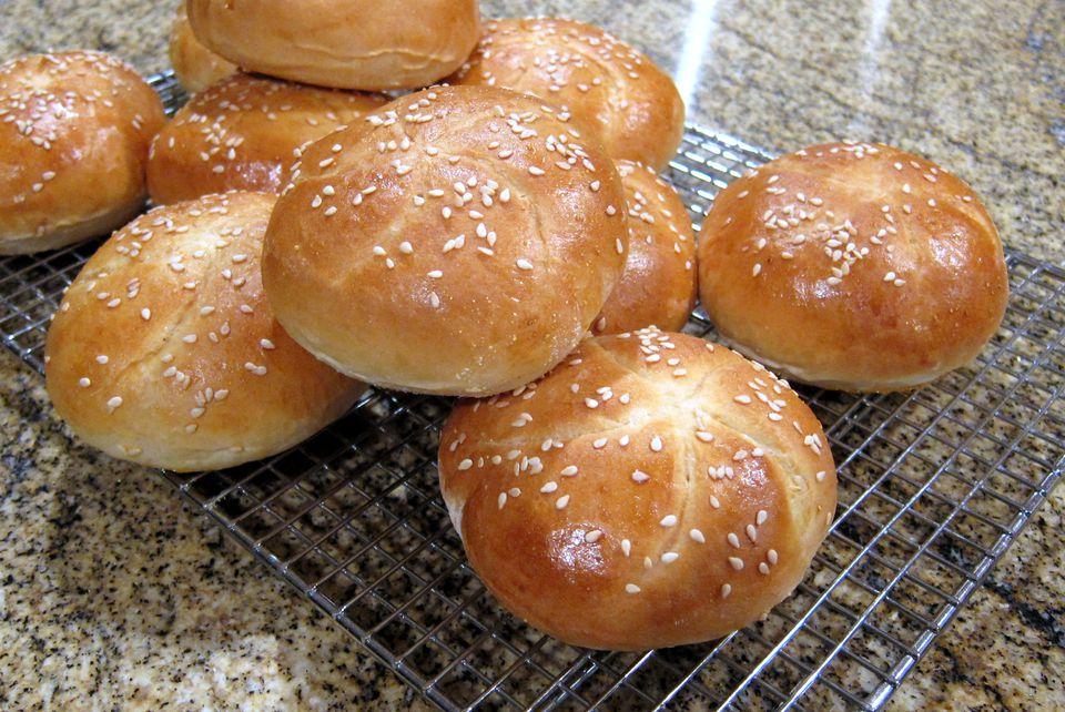 homemade barbecue buns or hamburger buns