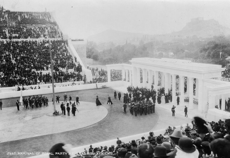 Opening ceremony of the 1906 Olympic Games.