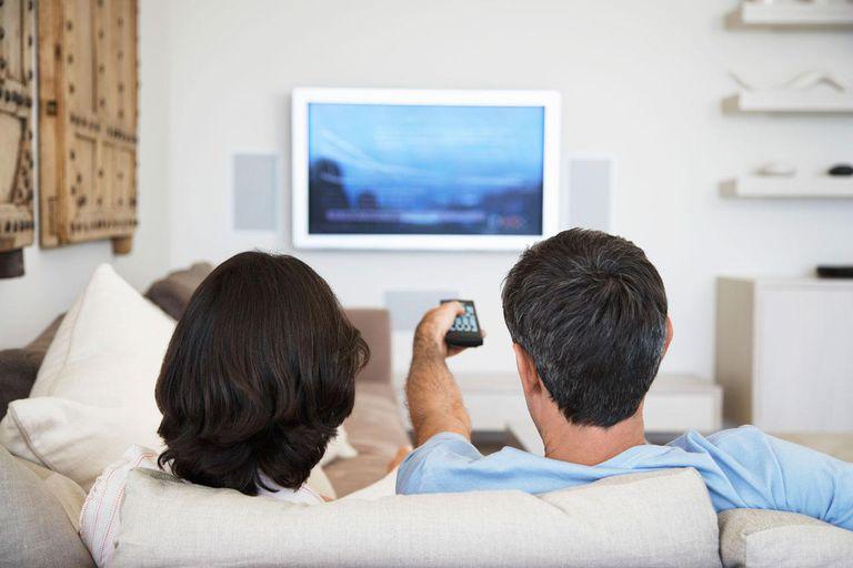 Man & Woman Watching TV