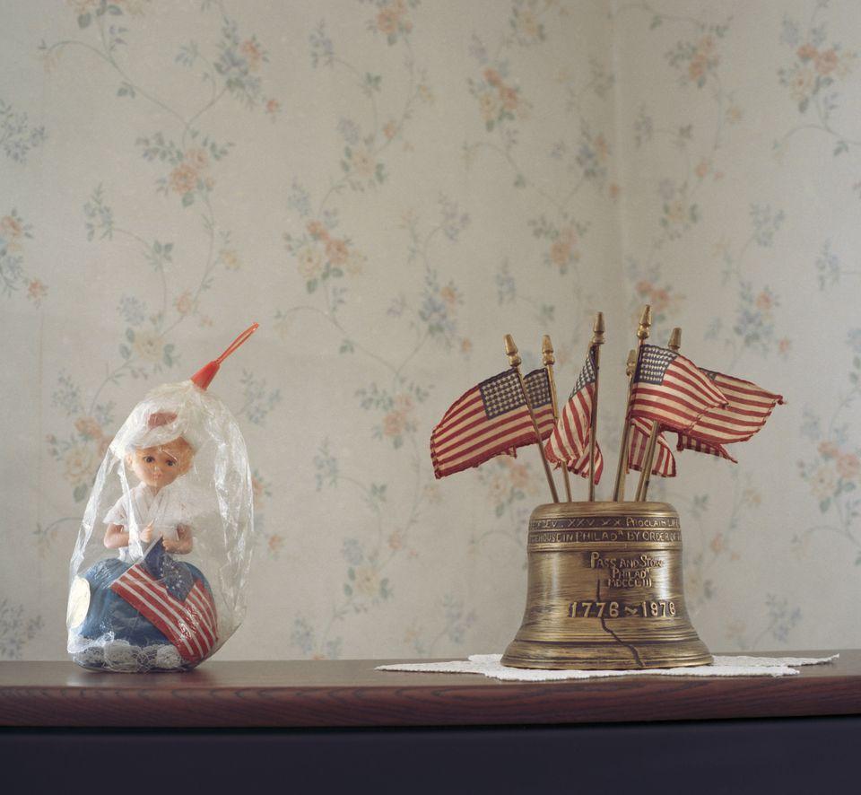 American flag memorabilia