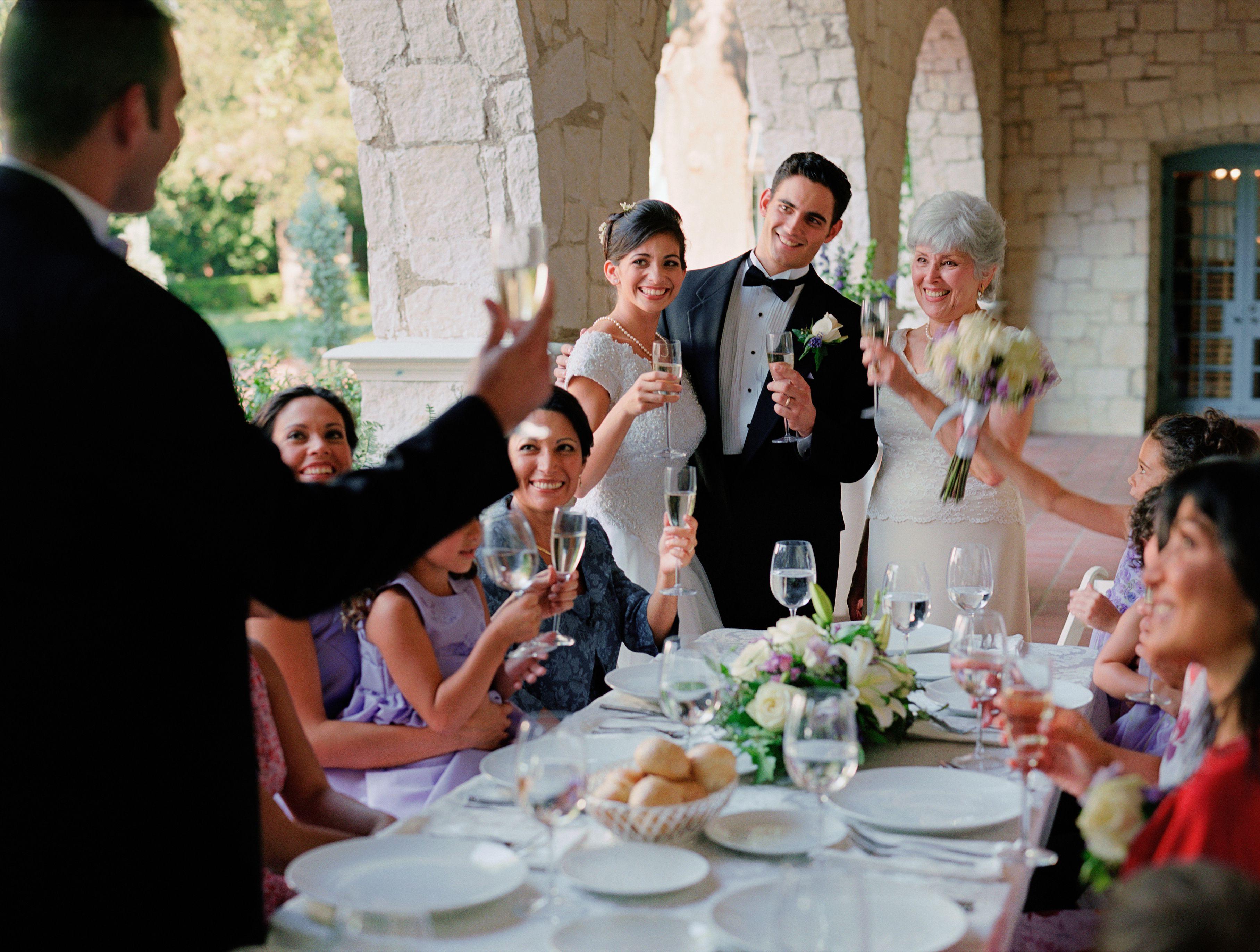 Home modern family wedding toast.